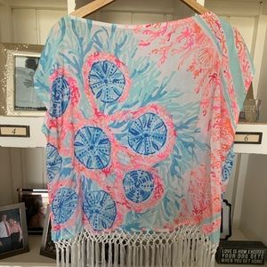 Lilly tunic with fringe! Worn once! Size XS/S
